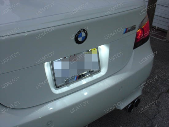 BMW - E60 - M5 - led - license - plate - lights - 3